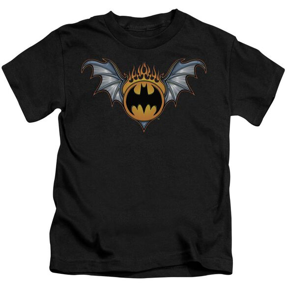 Batman Bat Wings Logo Short Sleeve Juvenile Black Md T-Shirt