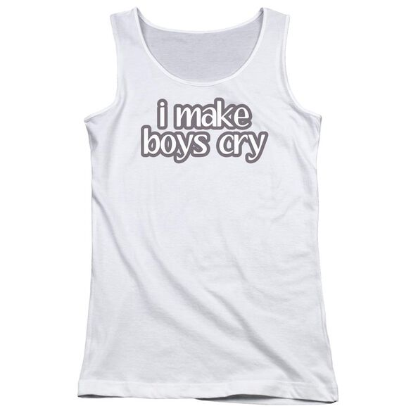 I Make Boys Cry Juniors Tank Top