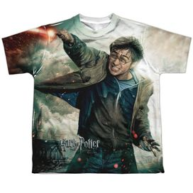 Harry Potter Harry Vs Voldemort Short Sleeve Youth Poly Crew T-Shirt