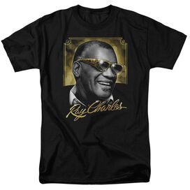 Ray Charles Golden Glasses Short Sleeve Adult T-Shirt
