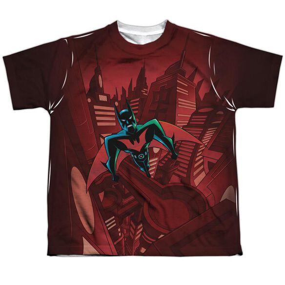 Batman Beyond Red Gotham Short Sleeve Youth Poly Crew T-Shirt