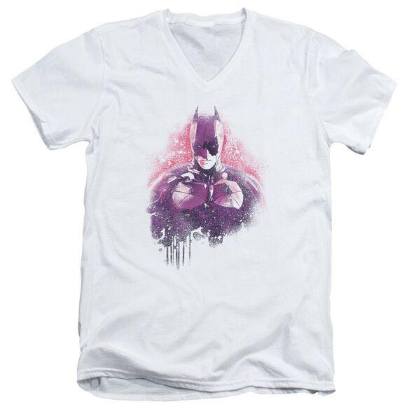 Dark Knight Rises Spray Bat Short Sleeve Adult V Neck T-Shirt