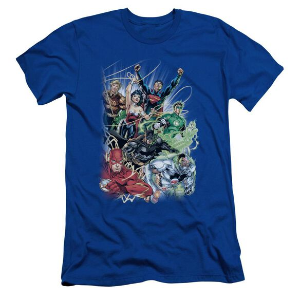 Jla Justice League #1 Short Sleeve Adult Royal T-Shirt