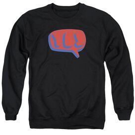 Yes Word Bubble Adult Crewneck Sweatshirt