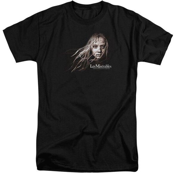 Les Miserables Cosette Face Short Sleeve Adult Tall T-Shirt
