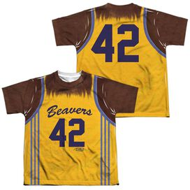 Teen Wolf Jersey (Front Back Print) Short Sleeve Youth Poly Crew T-Shirt