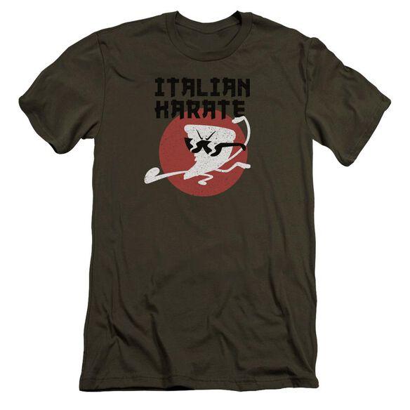 Uncle Grandpa Italian Karate Hbo Short Sleeve Adult Military T-Shirt
