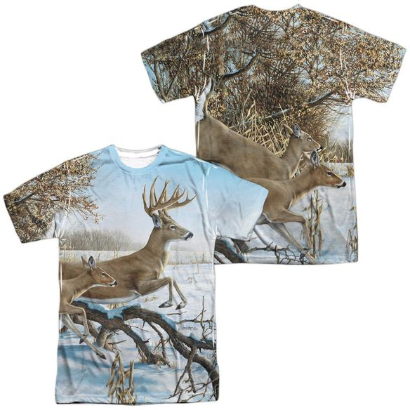 Wild Wings Breaking Cover (Front Back Print) Short Sleeve Adult Poly Crew T-Shirt