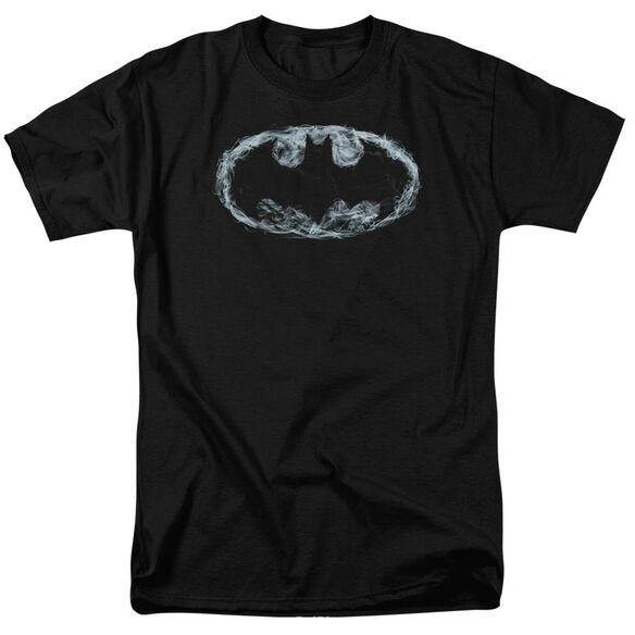 BATMAN SMOKE SIGNAL - S/S ADULT 18/1 - BLACK T-Shirt