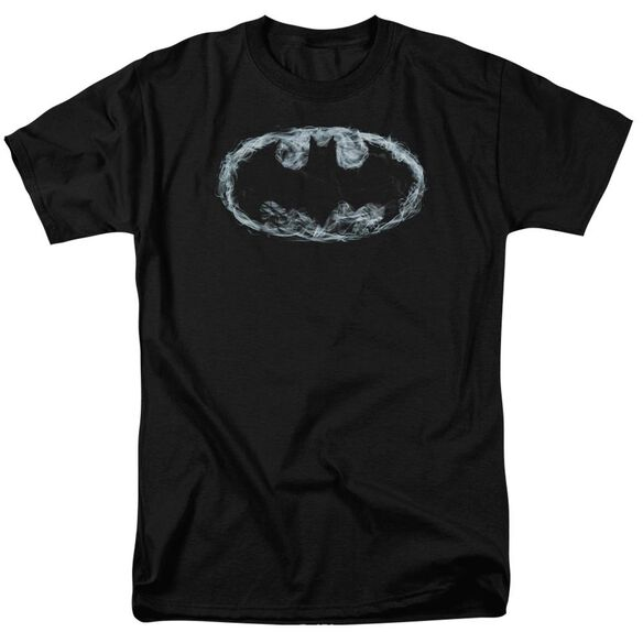 BATMAN SMOKE SIGNAL - S/S ADULT 18/1 - BLACK T-Shirt