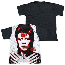 David Bowie Piercing Gaze Short Sleeve Youth Front Black Back T-Shirt
