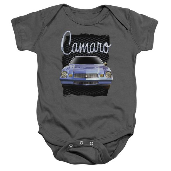 Chevrolet Yellow Camaro Infant Snapsuit Charcoal