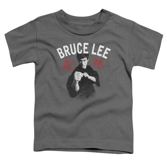 Bruce Lee Ready Short Sleeve Toddler Tee Charcoal Sm T-Shirt