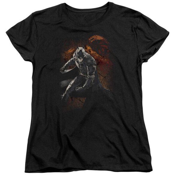 Dark Knight Rises Grungy Knight Short Sleeve Womens Tee T-Shirt