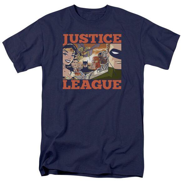 Jla New Dawn Group Short Sleeve Adult T-Shirt