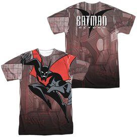 Batman Beyond Bat Tech (Front Back Print) Short Sleeve Adult Poly Crew T-Shirt