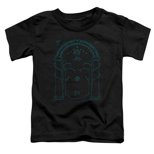 Lord Of The Rings Doors Of Durin Short Sleeve Toddler Tee Black T-Shirt