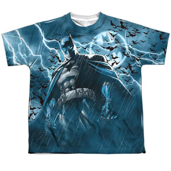 Batman Stormy Knight Short Sleeve Youth Poly Crew T-Shirt