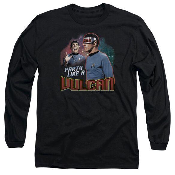 Star Trek Party Like A Vulcan Long Sleeve Adult T-Shirt