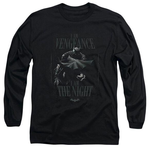 BATMAN I AM - L/S ADULT 18/1 - BLACK T-Shirt