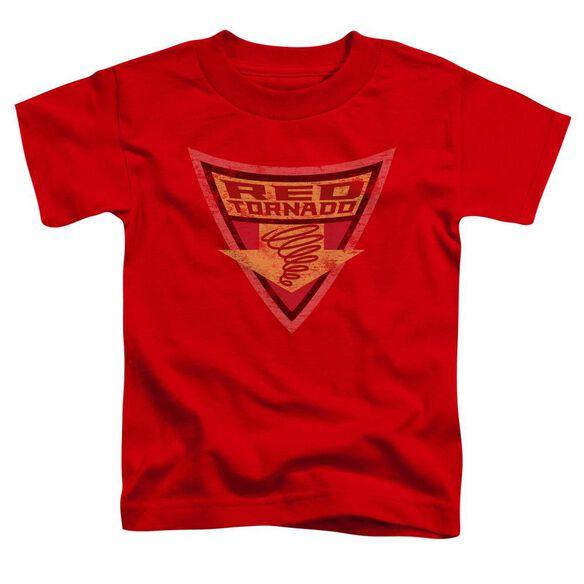 Batman Bb Red Tornado Shield Short Sleeve Toddler Tee Red Lg T-Shirt