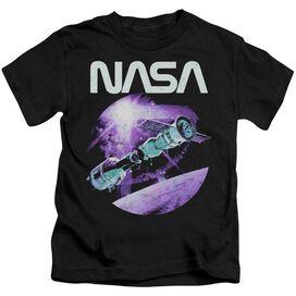 Nasa Come Together Short Sleeve Juvenile Black T-Shirt