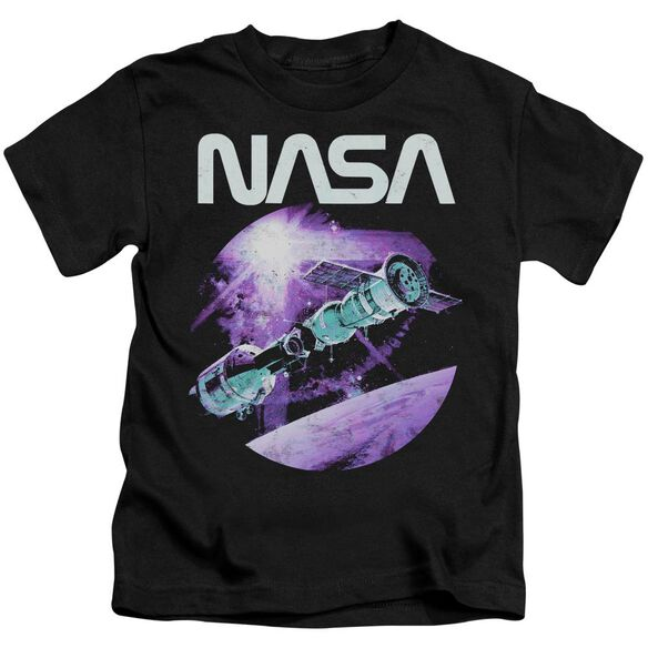 Nasa Come Together Short Sleeve Juvenile Black T-Shirt