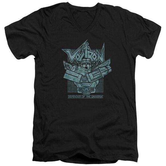 Voltron Defender Rough Short Sleeve Adult V Neck T-Shirt