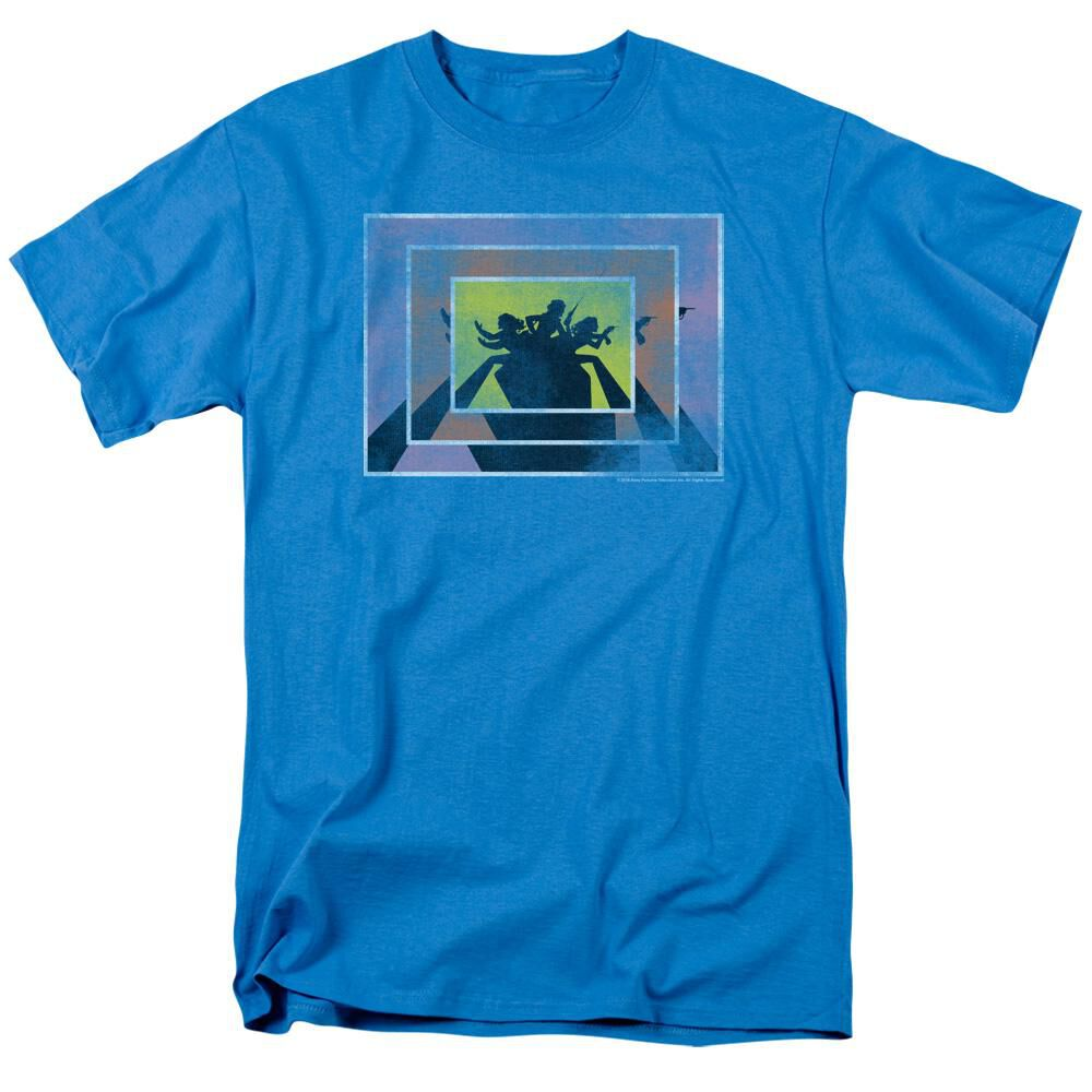 Charlies Angels Boxed Angels 2 Short Sleeve Adult Turquoise T-Shirt