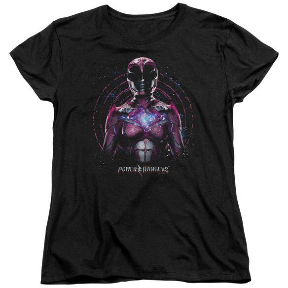 Power Rangers Pink Ranger Short Sleeve Womens Tee T-Shirt