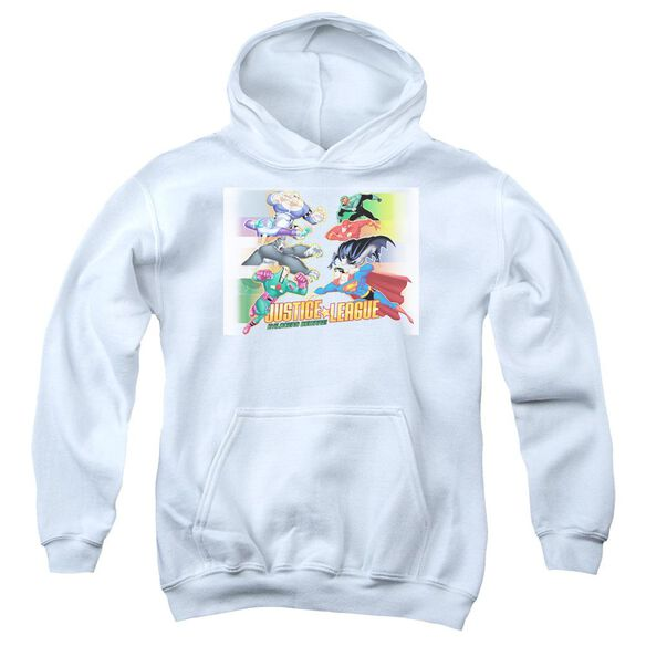 Jla Evildoers Beware Youth Pull Over Hoodie - White (XL)