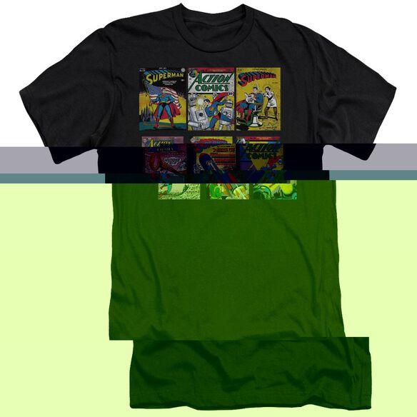 SUPERMAN SM COVERS - S/S ADULT 30/1 - BLACK T-Shirt