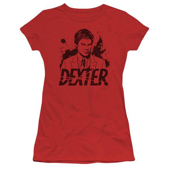 Dexter Splatter Dex Short Sleeve Junior Sheer T-Shirt