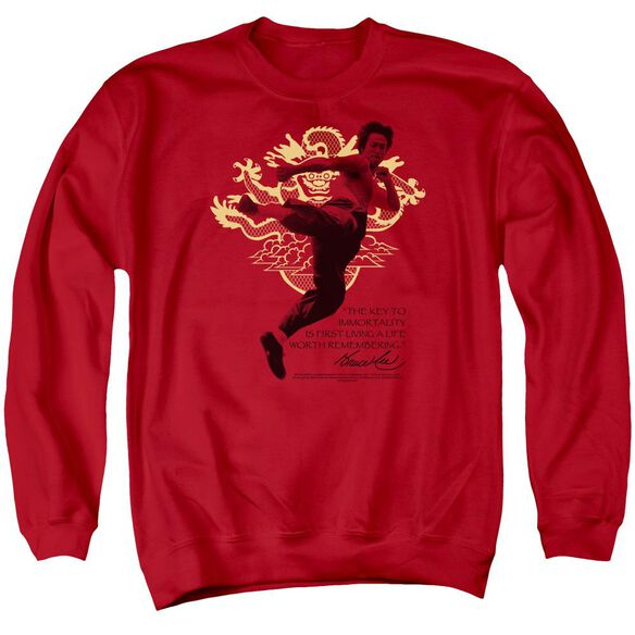 Bruce Lee Immortal Dragon Adult Crewneck Sweatshirt