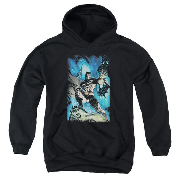 Batman Stormy Dark Knight Youth Pull Over Hoodie