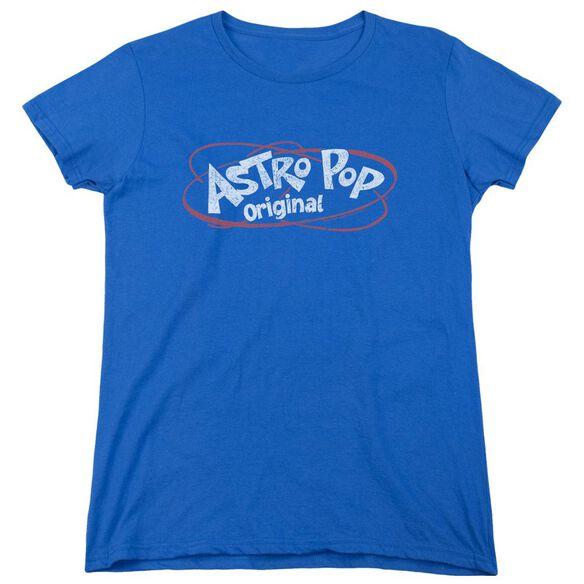 Astro Pop Vintage Logo Short Sleeve Womens Tee Royal T-Shirt