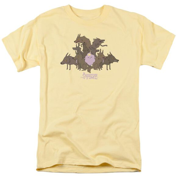 Adventure Time Lsp & Wolves Short Sleeve Adult Banana T-Shirt