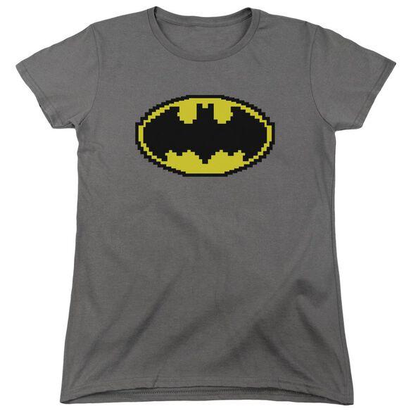 Batman Pixel Symbol Short Sleeve Womens Tee T-Shirt