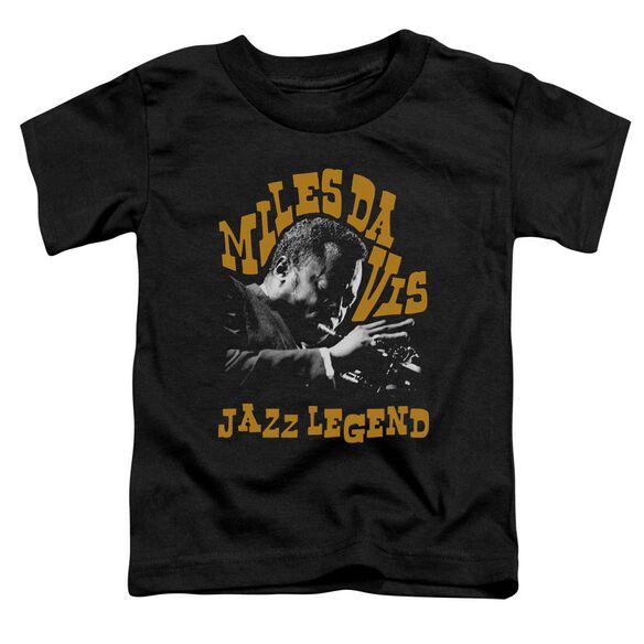Miles Davis Jazz Legend Short Sleeve Toddler Tee Black T-Shirt