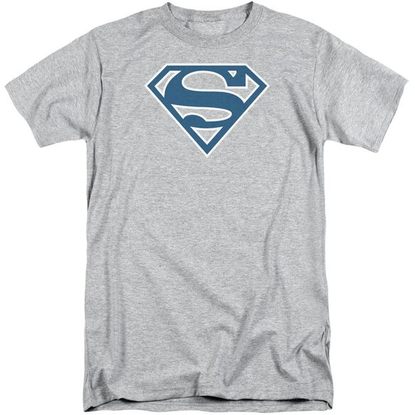 Superman Blue & White Shield Short Sleeve Adult Tall Athletic T-Shirt