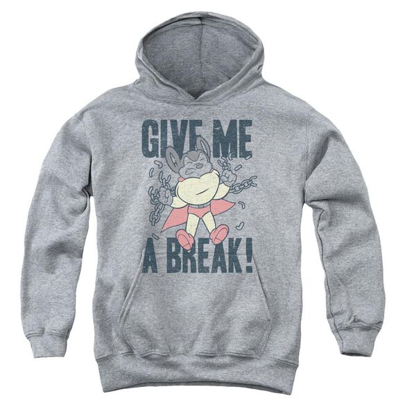 Mighty Mouse Give Me A Break Youth Pull Over Hoodie