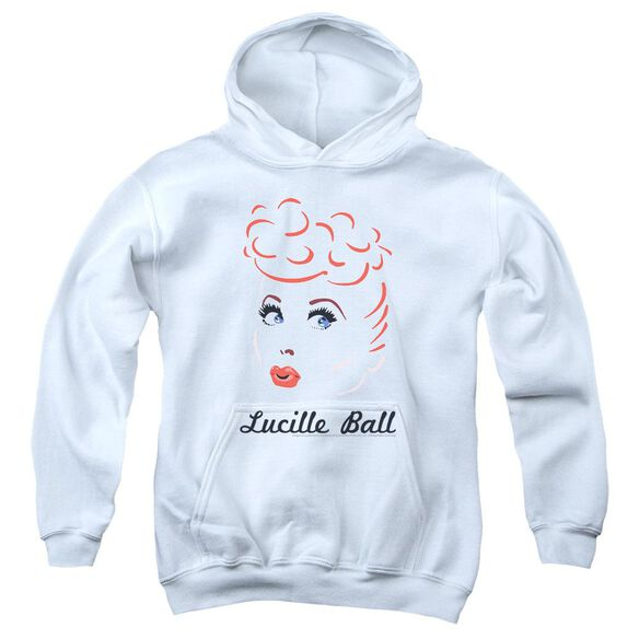 Lucille Ball Drawing Youth Pull Over Hoodie