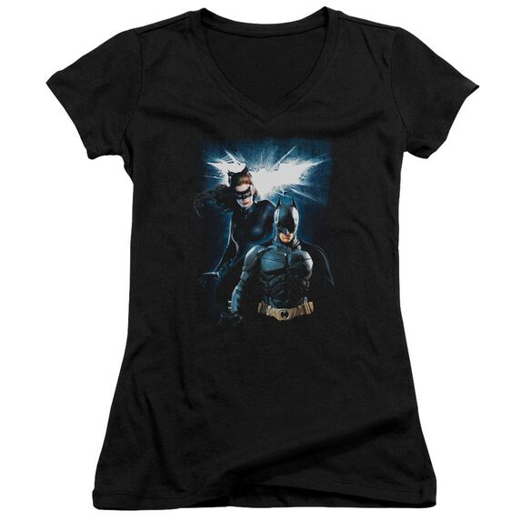 Dark Knight Rises Bat & Cat Junior V Neck T-Shirt