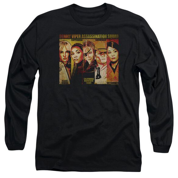 Kill Bill Deadly Viper Assassination Squad Long Sleeve Adult T-Shirt