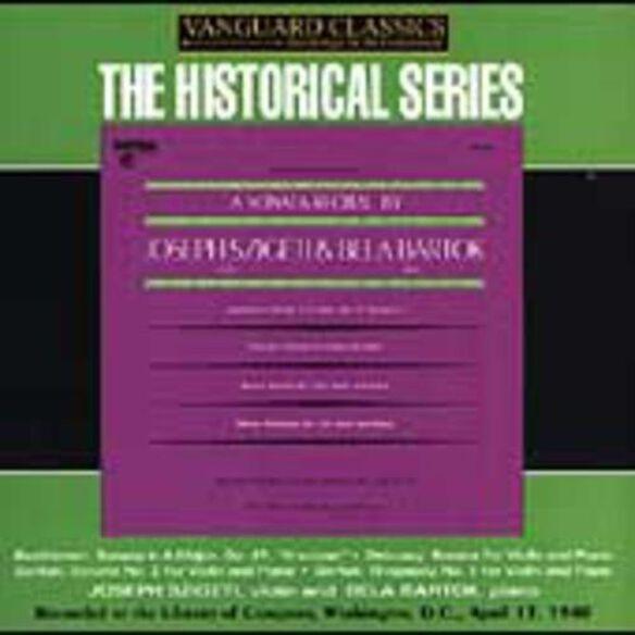 Joseph Szigeti - Sonata Recital By Joseph Szigeti & Bela Bartok
