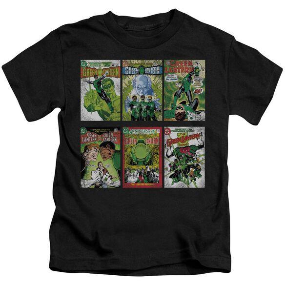 Green Lantern Gl Covers Short Sleeve Juvenile Black T-Shirt