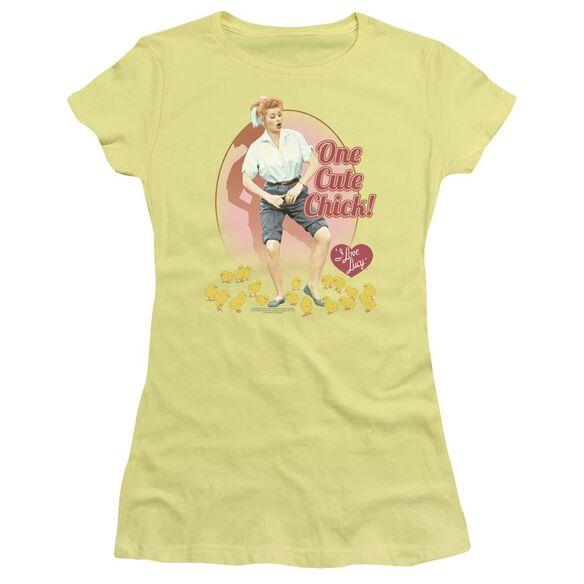 I Love Lucy Cute Chick Short Sleeve Junior Sheer T-Shirt