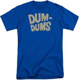 Dum Dums Distressed Logo Short Sleeve Adult Tall Royal T-Shirt