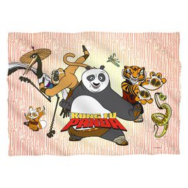 Kung Fu Panda Kung Fu Group Pillow Case
