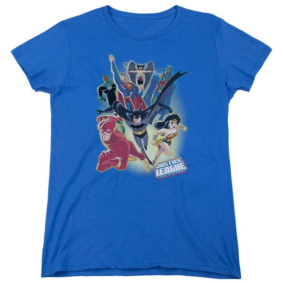 Jla Unlimited Short Sleeve Womens Tee Royal T-Shirt